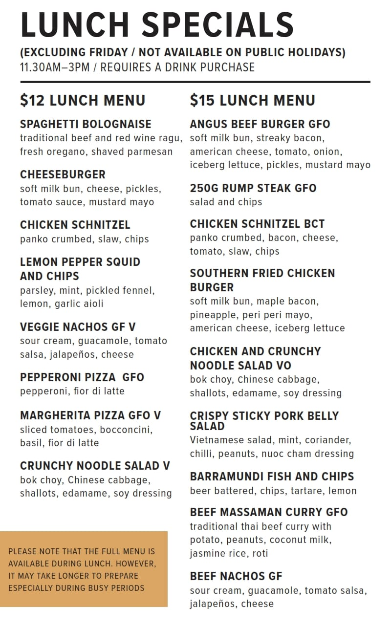 Lunch Specials 2019 10 03