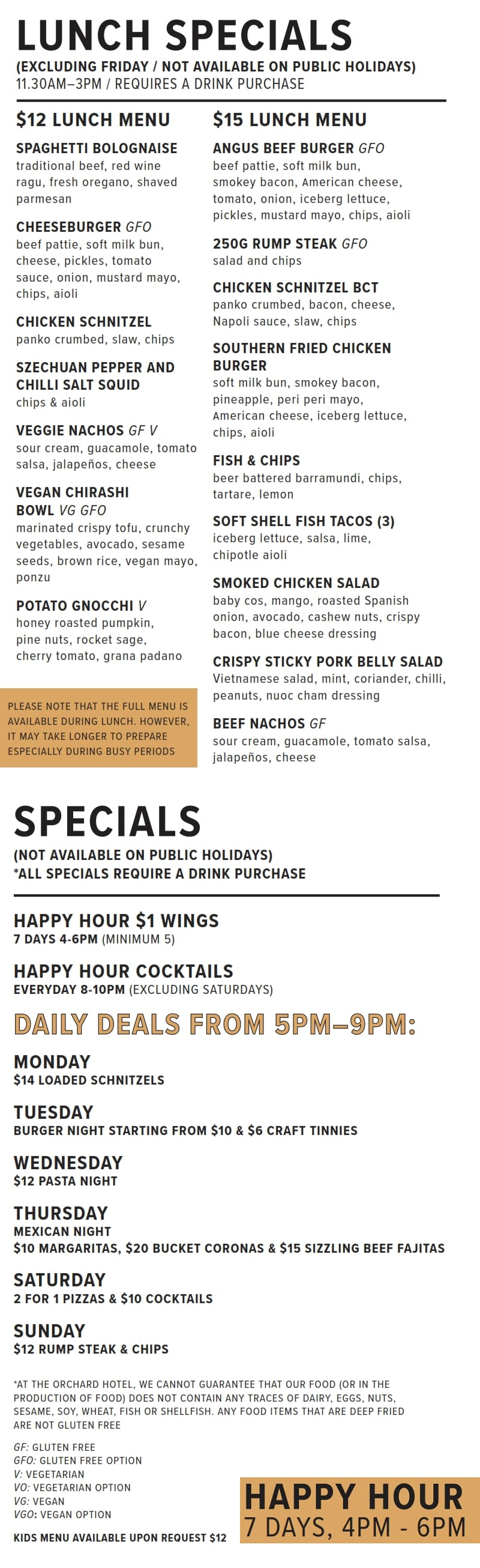 Lunch Specials 2020 01 09